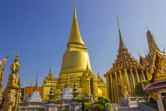 Wat Phra Kaew Bangkok, Thailand Royaltyfria Bilder