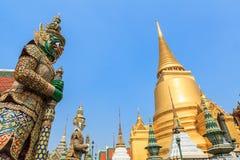 Wat Phra Kaew Bangkok THAILAND Arkivbilder
