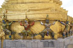 Wat Phra Kaew in Bangkok, Thailand, Asia Stock Image