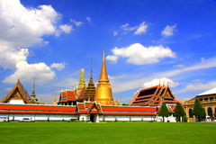 Wat Phra Kaew. Bangkok, Thailand Wat Phra Sri Rattana Satsadaram or Wat Phra Kaew The Temple of the Emerald Buddha is regarded as the most important Buddhist stock photos
