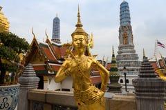 Wat Phra Kaew Bangkok Thailand. Temple or wat in Bangkok Thailand. Kinnaree sculpture is mythological creature, half of bird and girl at Wat Phra Kaew also Royalty Free Stock Photography