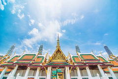 Wat Phra Kaew in Bangkok of Thailand. Wat Phra Kaew or the Temple of Thailand in bangkok, Public architecture,Public domain Royalty Free Stock Photography