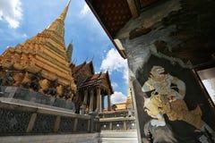 Wat Phra Kaew, Banguecoque, Tailândia Fotos de Stock