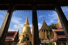 Wat Phra Kaew, Banguecoque, Tailândia Foto de Stock Royalty Free