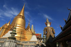 Wat Phra Kaew, Banguecoque, Tailândia Imagem de Stock Royalty Free