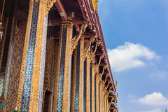Wat Phra Kaew columns Royalty Free Stock Photos