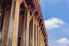 Wat Phra Kaew columns Royalty Free Stock Photos