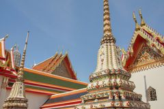 Buddhist temples in Bangkok, Thailand stock photos