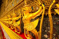 Wat Phra Kaew, commonly known in English as the Temple of the Emerald Buddha or grand palace is regarded as the most sacred Buddhi royalty free stock photo
