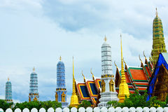 The Wat Phra Kaew. The corner of The Wat Phra Kaew Stock Photography