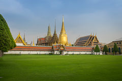 Wat-phra kaew, der berühmte Platz in Bangkok, Thailand Stockbild