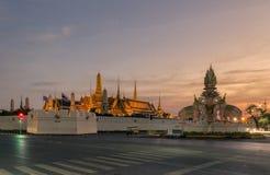 Wat Phra Kaew eller tempel av Emerald Buddha Arkivbild