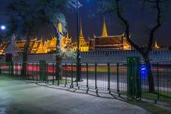 Wat Phra Kaew em Banguecoque Tailândia Fotografia de Stock Royalty Free
