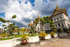 Wat Phra Kaew en Royal Palace in Bangkok, Thailand Royalty-vrije Stock Afbeelding