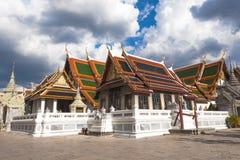 Wat Phra Kaew en Royal Palace in Bangkok, Thailand Stock Afbeelding