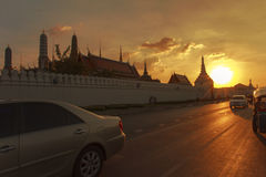 Wat Phra Kaew evening. Royalty Free Stock Photo