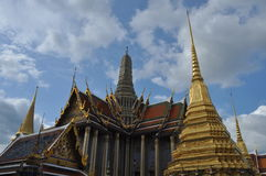 Wat Phra Kaew a famiglia reale di Bangkok, Tailandia Fotografia Stock Libera da Diritti