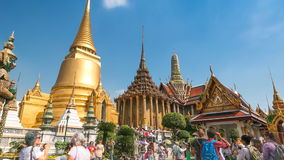 Wat Phra Kaew Famous Temple Of the Emerald Buddha Bangkok, Thailand (zoom out) stock video