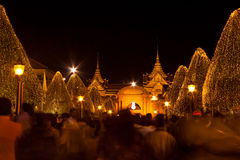 Wat Phra Kaew in a Father's Day of thailand Royalty Free Stock Image