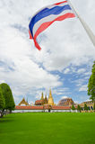 Wat Phra Kaew and the flag Stock Photography