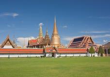 Wat Phra Kaew in giorno pieno di sole Fotografia Stock