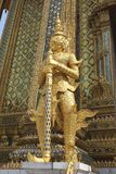Wat Phra Kaew golden statue in Bangkok, Thailand, Asia Royalty Free Stock Photos