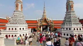 Wat Phra Kaew grand buddha temple bangkok thailand time lapse stock video