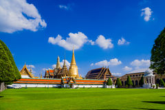 Wat Phra Kaew Grand Palace at Bangkok. The famous landmark temple at Wat Phra Kaew Emerald Buddha temple Bangkok, Thailand royalty free stock image