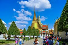 Wat Phra Kaew Grand Palace at Bangkok Stock Images