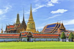Wat Phra Kaew Grand Palace Bangkok. The temples of Wat Phra Kaew Grand Palace in Bangkok, Thailand Stock Photography