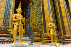 Wat Phra Kaew or Grand Palace Stock Photos