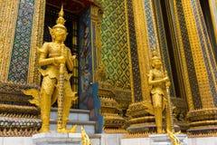 Wat Phra Kaew or Grand Palace Stock Photos