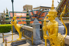 Wat Phra Kaew or Grand Palace Stock Photo
