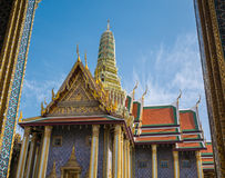 Wat Phra Kaew (the Grand Palace) of Thailand. Stock Image