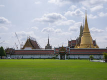 Wat Phra Kaew (the Grand Palace) of Thailand. Royalty Free Stock Image