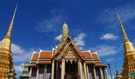 Wat Phra Kaew (grande palazzo) di mattina Immagini Stock Libere da Diritti