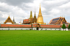Wat Phra Kaew. Wat Phra Kaeo located at Grand Palace in the historic center of Bangkok. Thailand Royalty Free Stock Images