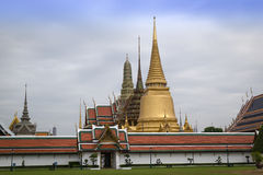 Wat Phra Kaew. The landmark of Bangkok, where is the place of Emerald Buddha Royalty Free Stock Image
