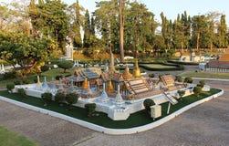 Wat Phra Kaew in Mini Siam-Park lizenzfreie stockfotografie