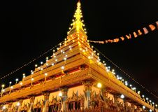 Wat phra kaew the most famous landmark at Khonkaen,Thailand Stock Image