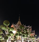 Wat Phra Kaew nachts Stockbild