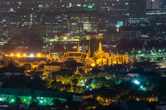 Wat Phra Kaew at night , bangkok, Thailand. Stock Image