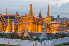 Wat Phra Kaew at night in Bangkok, Thailand Stock Images