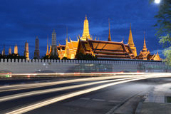 Wat Phra Kaew at night, Bangkok, Thailand Stock Photography