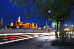 Wat Phra Kaew at night, Bangkok, Thailand Stock Image