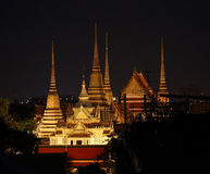 Wat Phra Kaew at night in Bangkok Royalty Free Stock Photography