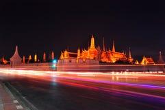 Wat Phra Kaew in the night Stock Photos