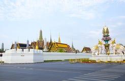 Wat Phra Kaew, o real grande do templo em Banguecoque Imagem de Stock Royalty Free