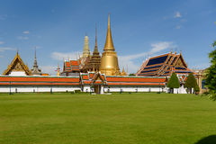 Wat Phra Kaew is one of the most popular tourists destination in Royalty Free Stock Photo