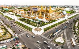 Wat Phra Kaew, palais grand à Bangkok, Thaïlande Photo libre de droits